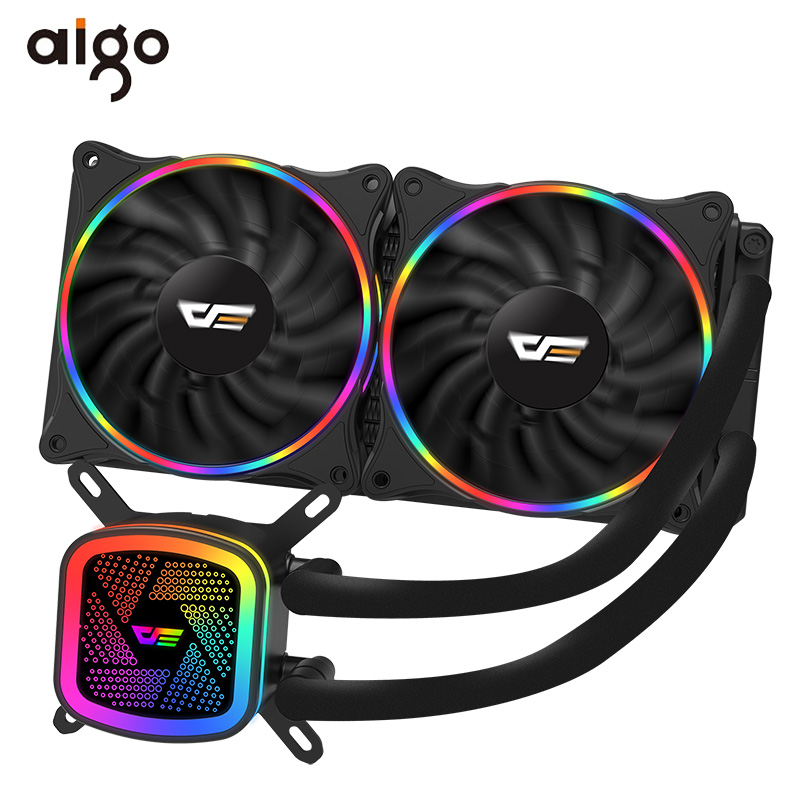 Aigo PC Case Water Cooling Computer CPU Fan T120/240 Water Cooler Heatsink Integrated Water Cooling Radiator Intel/AMD Support-in Fans & Cooling from Computer & Office