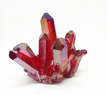 Red Quartz Pointer Crystal Cluster