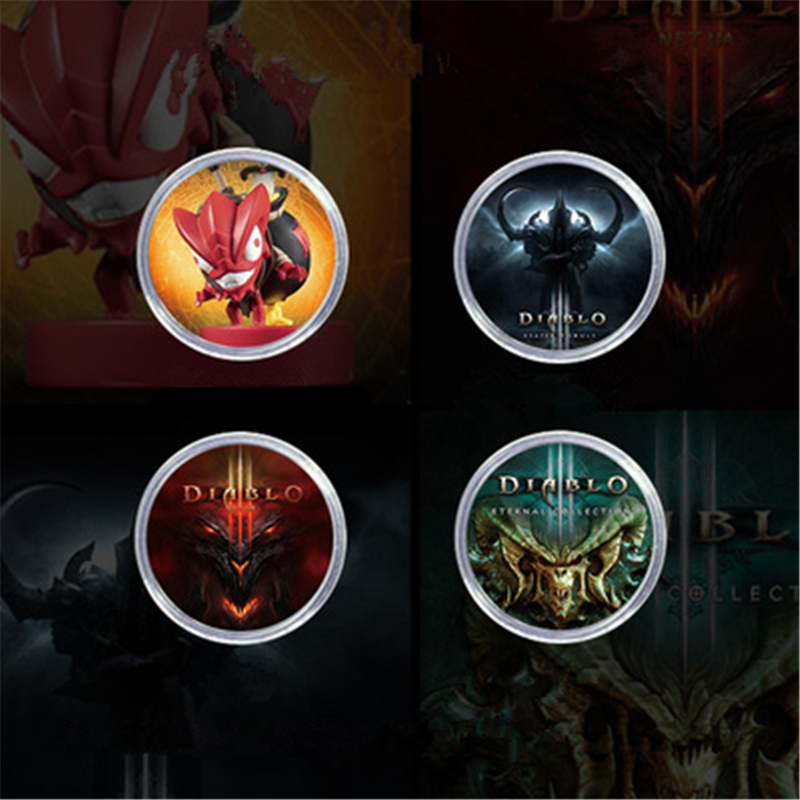 2Pcs/lot New Data Coming Diablo 3 NFC Game <font><b>Card</b></font> For <font><b>Amiibo</b></font> NS/Switch Ntag215 Coin Tag Elite Territory Loot Goblin Fast shipping image