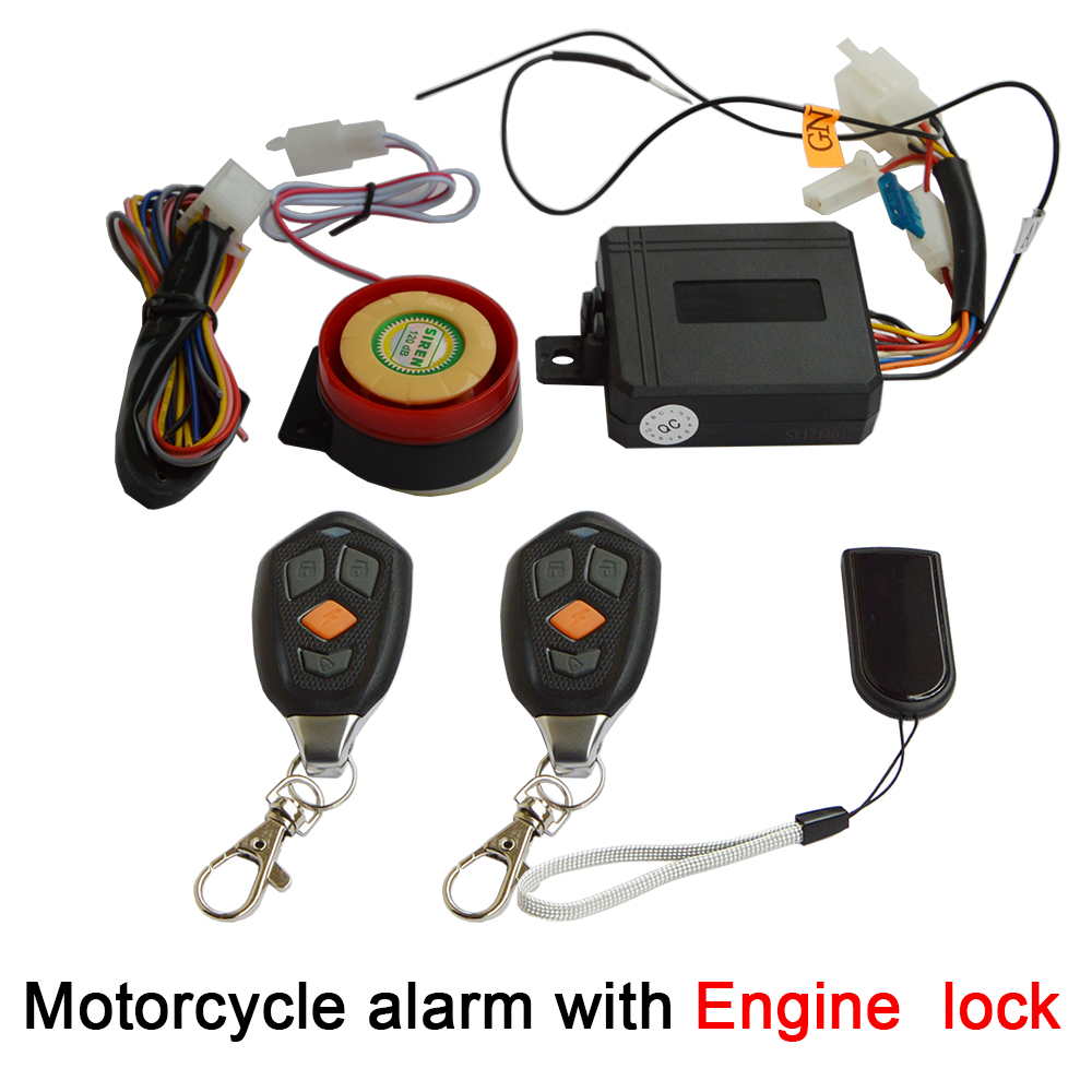 Motorcycle Security Alarm System With CDI Anti-hijacking Engine Start Lock, Motorbike Anti-robbery Electronic Hidden Lock