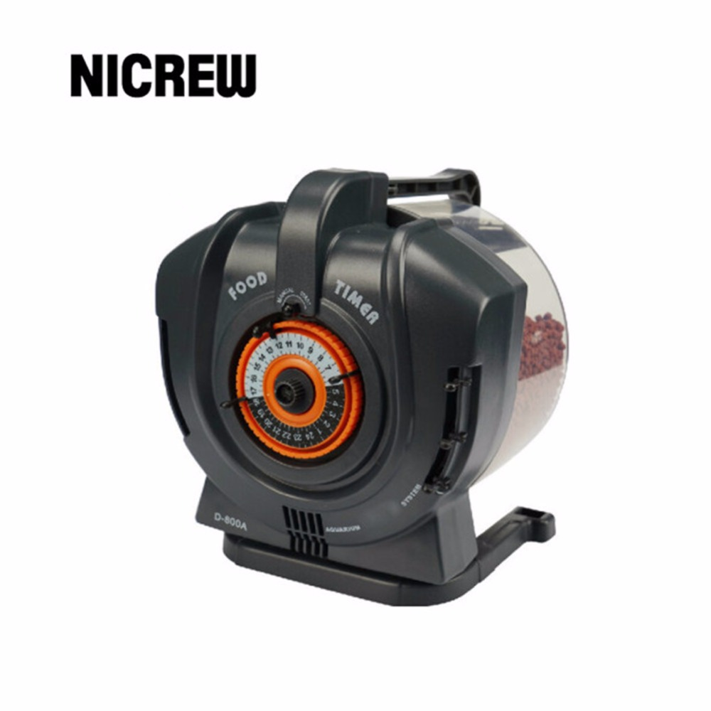 Nicrew New Sale D-630/D-800A Digital LCD Automatic Aquarium Tank Auto Fish Feeder Timer Food Feeding For Home Free Shipping