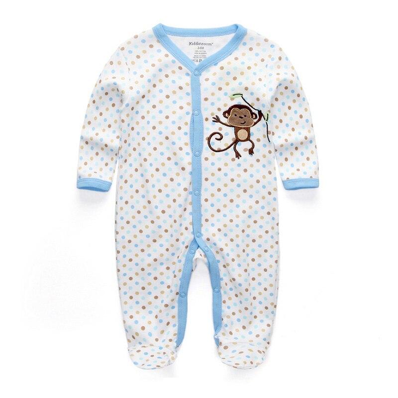 d6e2b33dbdba Baby Boy Rompers Summer Newborn Pajamas Clothes 100%Cotton 3 6 9 12 ...