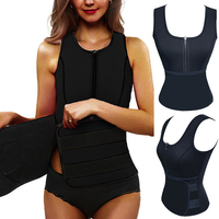 Neoprene Sauna Waist Trainer Vest Hot Shaper Summer Workout Shaperwear Slimming Adjustable Sweat Belt Body Shaper