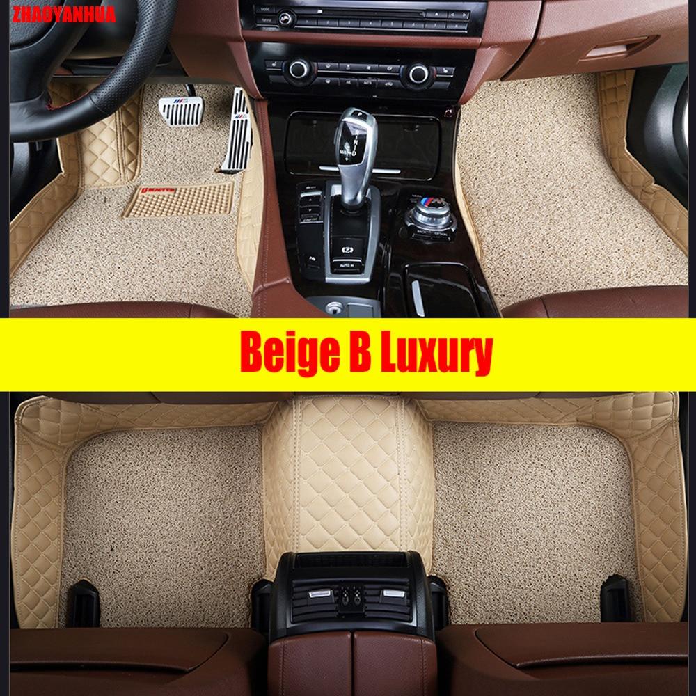 Zhaoyanhua car floor mats for toyota camry prado rav4 mark x corolla highlander land cruiser 200 6d car styling liners