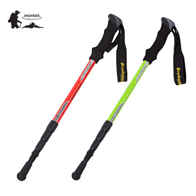 HIGHSEE Outdoor Walking Stick Trekking Poles Hiking Stick Walking Sticks  Folding Baston Trekking Carbon Pole Trekking