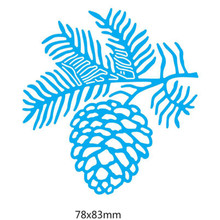 YLCD1559 Pine Cone Metal Cutting Dies For Scrapbooking Stencils DIY Album Cards Decoration Embossing Folder Die Cuts Mold Tools(China)