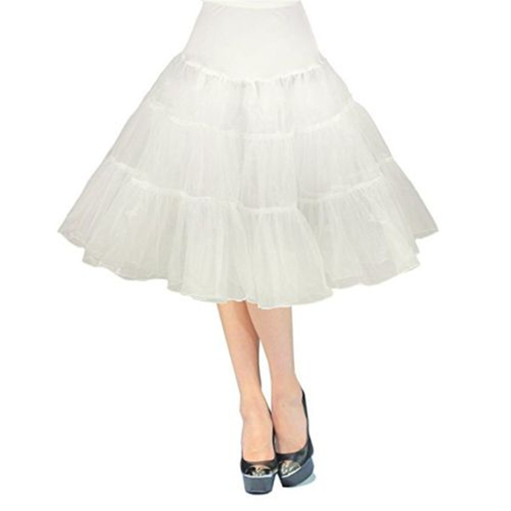"Купить с кэшбэком 26"" Retro Underskirt 50s Swing wedding Petticoat Rockabilly Tutu Fancy Net Skirt Slips Wedding Accessories"
