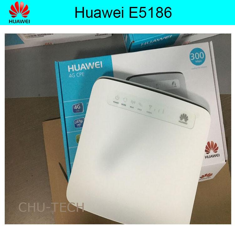 Prix pour Débloqué original Huawei E5186 Cat6 300 Mbps E5186s-22a LTE 4g routeur sans fil 4g FDD TDD cpe routeur sans fil + 4G antenne