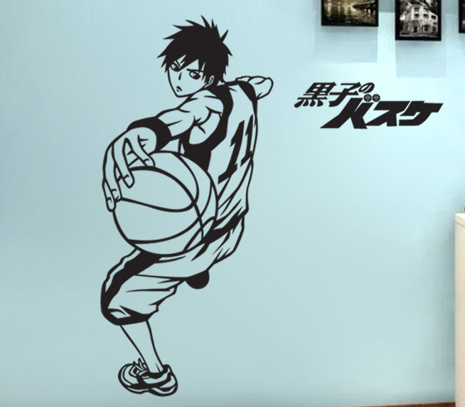 The spots of the basketball Anime wall wall post bedroom suite glass window wall surrounding the shop pastes