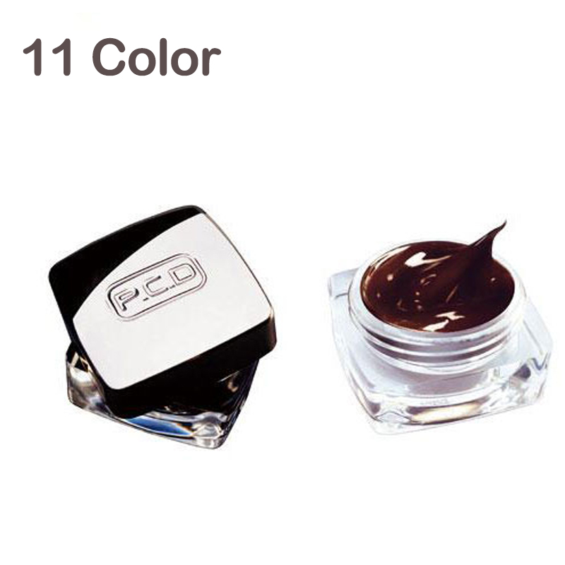 Free Shipping 10Pcs/Set 11 Colours To Choose Popular Permanent Makeup PCD Tattoo Pigment For Eyeliner Eyebrow