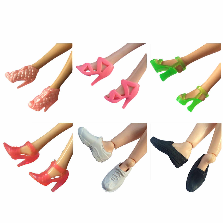 Мода 10 пар Мини кукла обувь на высоком каблуке сандалии на высоком каблуке теннисные кроссовки сапоги олень Обувь Аксессуары для Барби игрушка