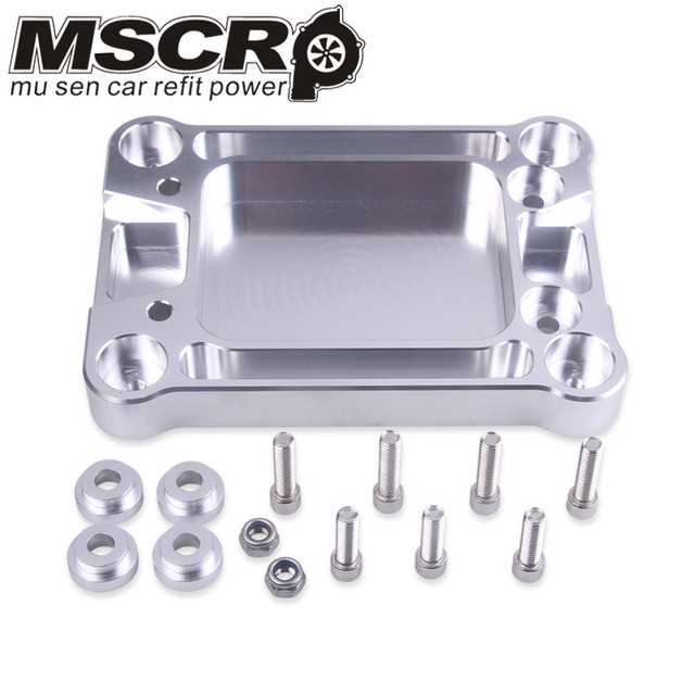 Aluminum Billet Shifter Base Plate For Honda K Series engine EG EK DC2 EF VR SBP01 For Civic Integra RSX K20 K24