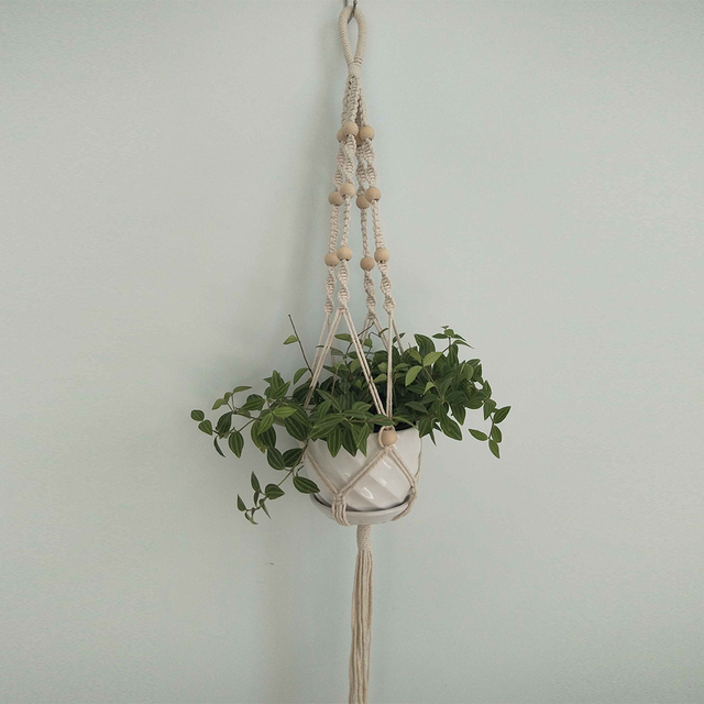Cotton Linen Plant Holder Macrame Plant Hanger Pot Holder Hanging