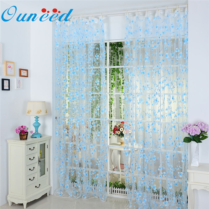 Ouneed Home Decoration Curtain Cheap Luxury Voile Net Curtains For Door  Screen Windows*30 GIFT