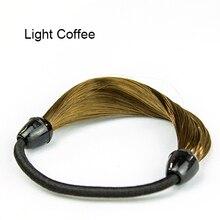Hot Wig Hair Ponytail Holders Plaits Hair Circle Manual Twist Rubber Band Headband  Hairband 5BPK 7EC3