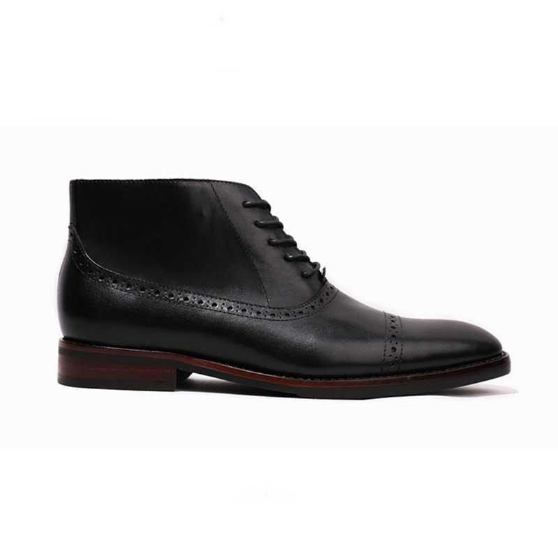 Grimentin Robe Hommes Cuir De Mens Haute Mâle Chaussures Cheville Bottes Black En Qualité Italien brown Véritable PkuZOiTX
