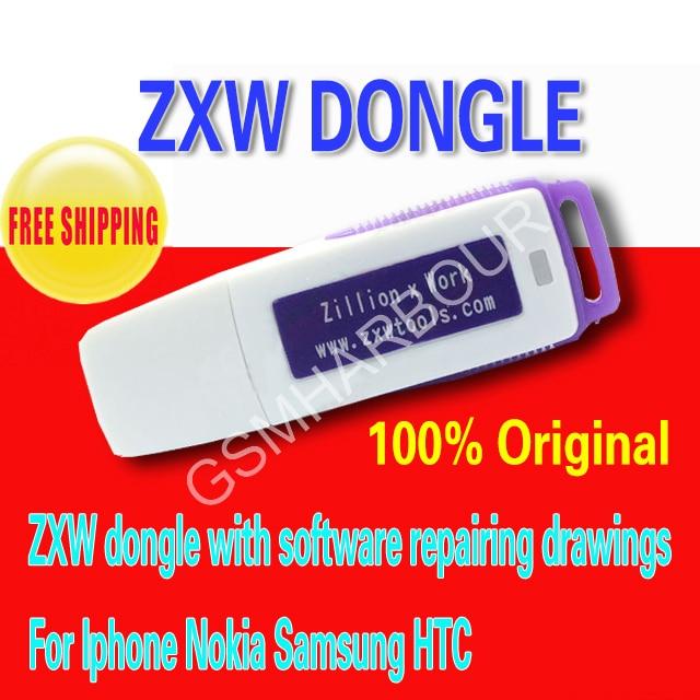 Цена за Последнее Zillion х Работы рисунки ZXW dongle с программное обеспечение ремонта Для Iphone 7 7 p Nokia Samsung HTC и т. д.