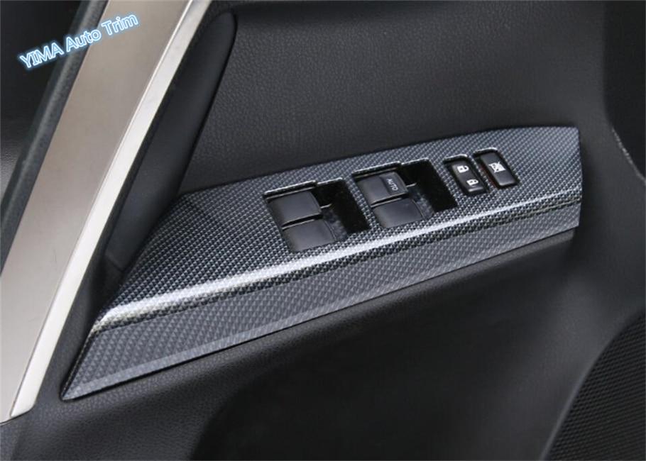 4PCS For Toyota RAV4 2016-2018 Carbon Fiber Interior Door Armrest Trim Strip