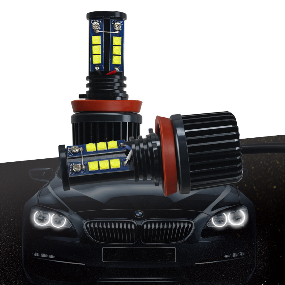 High Bright 120W LED H8 Angel Eyes Lights Bulbs Fog lights Error Free For BMW E90 E92 E91 E93 E60 E61 E63 E70 E71 E89 E81 E82-in Car Light Accessories from Automobiles & Motorcycles    1