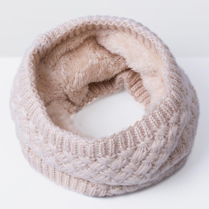 Согретый! Новые Детские Зимний Шарф детский вязаный толстый Шарфы для женщин мальчика девочка кольцо шарф мода зима хлопка дети шарф - Цвет: K