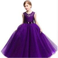 8 10 11 12 14 Años de edad Chica Vestido de Novia Para Desgaste del partido Niños Vestidos Largos para Adolescentes Niñas Ropa Robe Ceremonies Fille