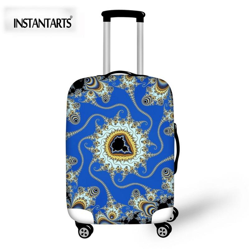 INSTANTARTS творческие проекты Чемодан защитные чехлы относятся к 18-30 дюймов случаях Водонепроницаемый эластичные чемодан дорожные аксессуары