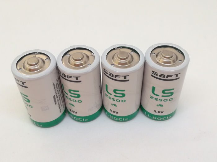 4pcs/lot New Genuine SAFT LS26500 26500 C 3.6V 8000MAH Lithium Battery Non-rechargeable (LS26500) Batteries Free Shipping xml net