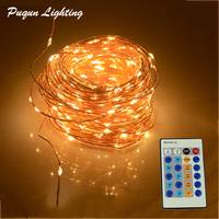 IR Remote Control 30m 300 LED Outdoor Christmas Fairy Lights Warm White Copper Wire LED String