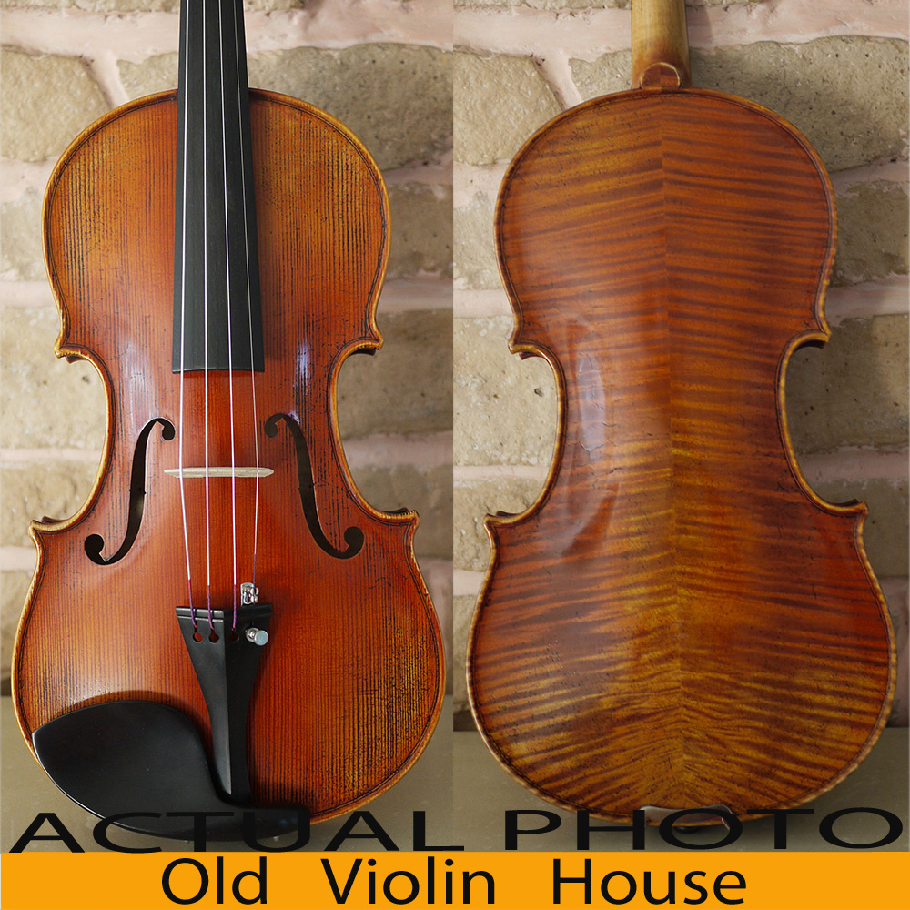 Carpathian Spruce Antonio Stradivari 1714 Soil Violin Aubert Bridge Antique varnish No 2867
