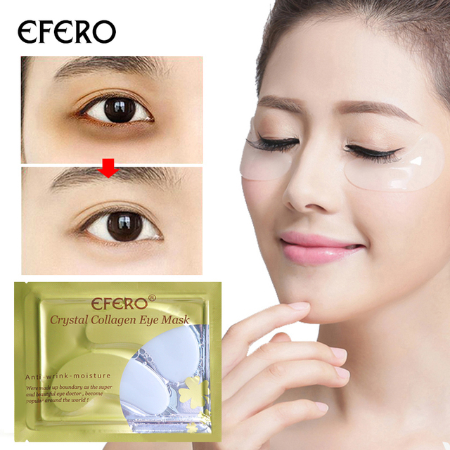 efero 10pcs=5pack Crystal Collagen Eye Mask Crystal Eyelid Patch Anti Wrinkle Moisture Dark Circle Remove Sleeping Mask Eye Care Skin Care