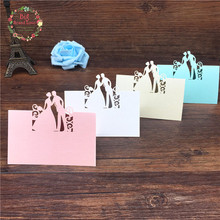 Big Heard Love 40pcs Bride and Groom Laser Cut Place Cards Wedding Name Cards Guest Name