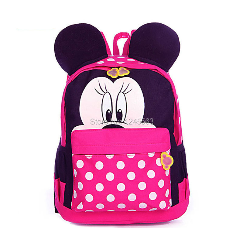 Baby S Cartoon Minnie Mouse School Bag Kids Polyester Backpacks Kindergarten Book Bags Children Birthday Gifts In From Luggage On