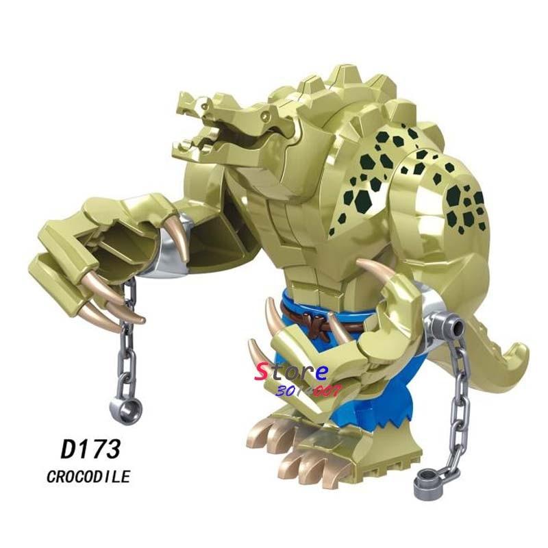 Single Marvel Avengers Endgame Big Size Crocodile Thanos War Machine Spiderman Hulk IronMan  Building Blocks Kid Toys
