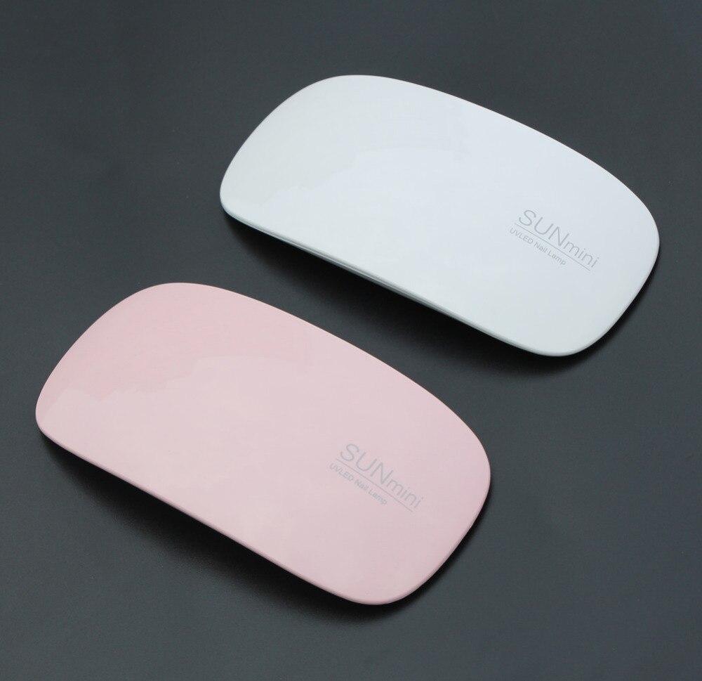 SUNmini 6W LED UV Nail Dryer Curing Lamp Light Portable for LED UV Gel Nail Polish Nail Art Manicure/Pedicure White