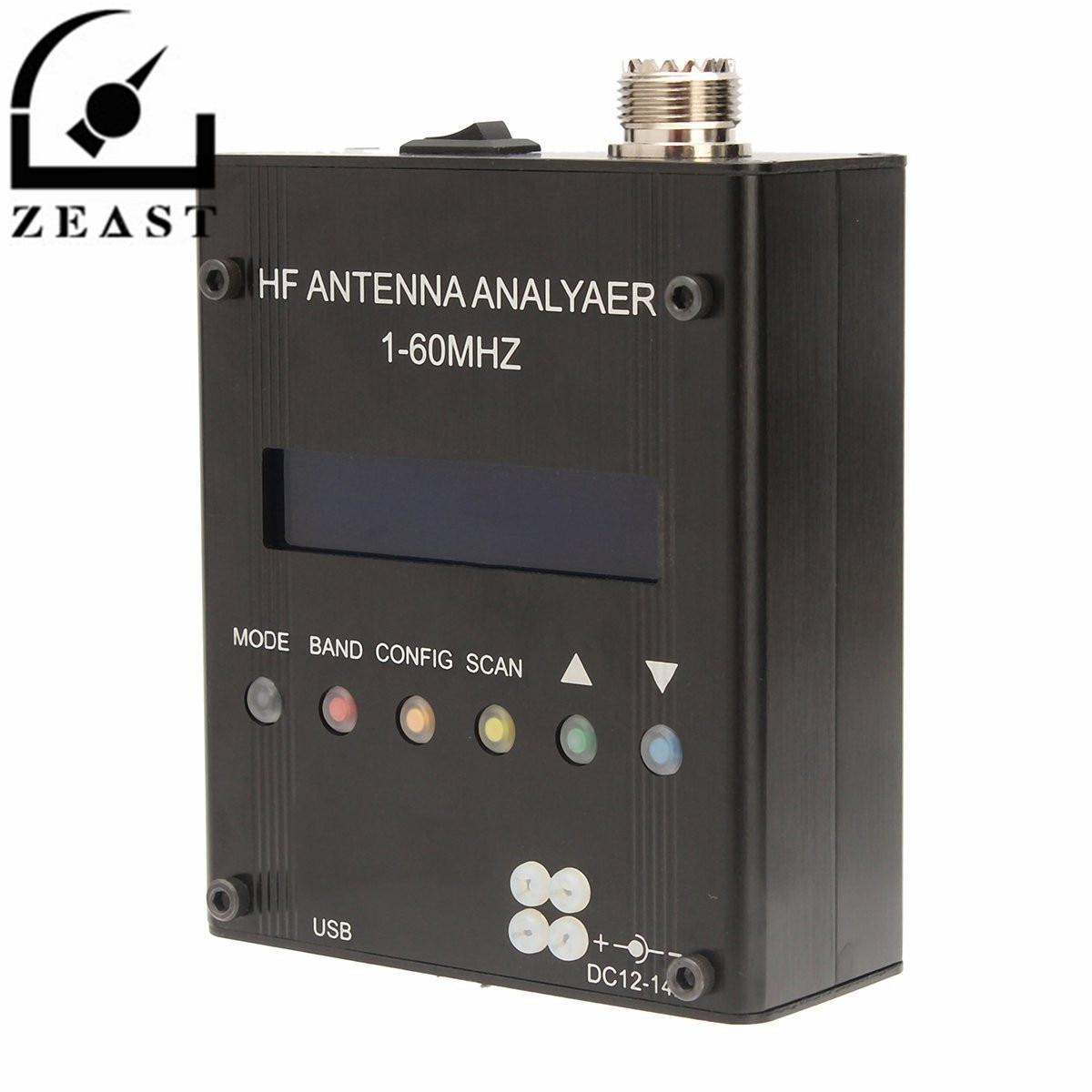 MR300 Numérique Ondes Courtes Antenne Analyseur Testeur 1-60 m Pour Ham Radio Test Onde Stationnaire Impédance Capacité