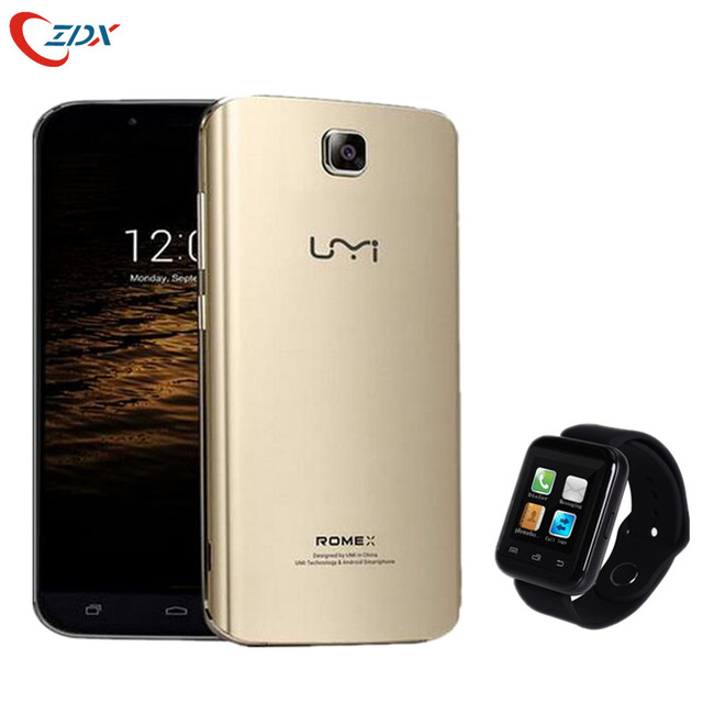 UMI Rome X MTK6580 Quad Core 3G Mobilphone 5.5 Inch IPS HD 1280*720 1GB RAM 8GB ROM Android 5.1 WCDMA GPS Free smartwatch gift