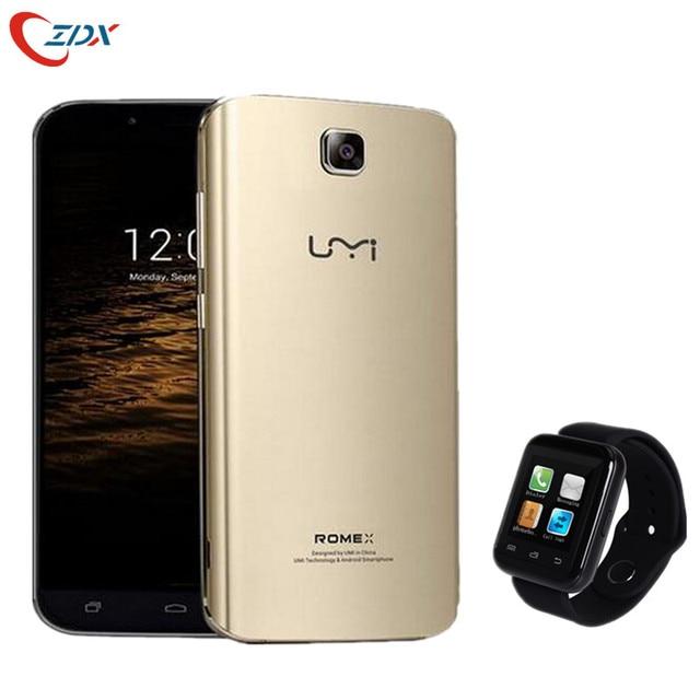 UMI Rome X MTK6580 Quad Core 3G Mobilphone 5.5 Inch IPS HD 1280*720 1GB RAM 8GB ROM Android 5.1 WCDMA GPS Free smartwatch gift
