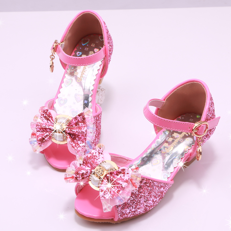 Lovely Kids Girls Shoes 2017 New Summer Girls Swing Bling Shoes Casual Princess Shoes Fashion Girls Sandals Free Shipping Girls