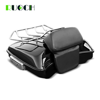 Motorcycle Tour Pak Trunk Set King Razor Tour Pack w/ Luggage Rack Latch Backrest For Harley HD Touring Road Street Glide 14 18