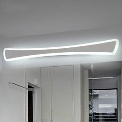 Proste nowoczesne lustro LED reflektory łazienka toaleta lustro szafka przednie światło wodoodporna anti-fog nawy kinkiet mx6181705