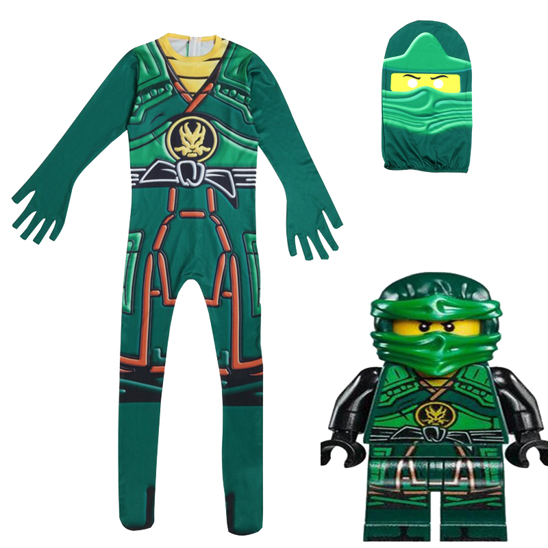 Image 2 - Ninjago Costumes Boys Ninja Costumes Kids Fancy Party Dress Up Halloween Costumes for Kids Ninjago Jumpsuits with Mask-in Clothing Sets from Mother & Kids