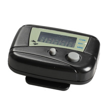 LCD Run Step Pedometer Walking Distance Counter Passometer Walking Distance Counter ABS Gym Calorie Tracker for Outdoor Sports