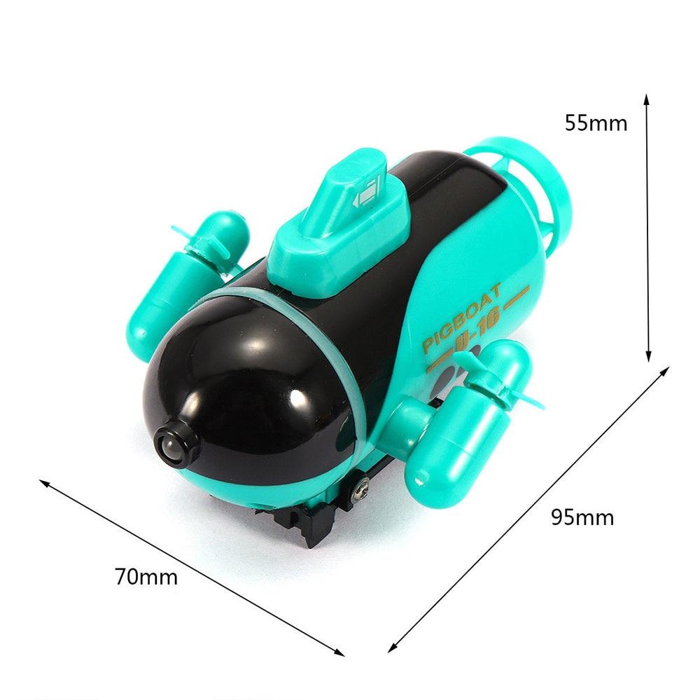Мини-субмарина с дистанционным управлением корабль синий плавательный бассейн подводная лодка для RC подводный корабль Прямая - Цвет: green