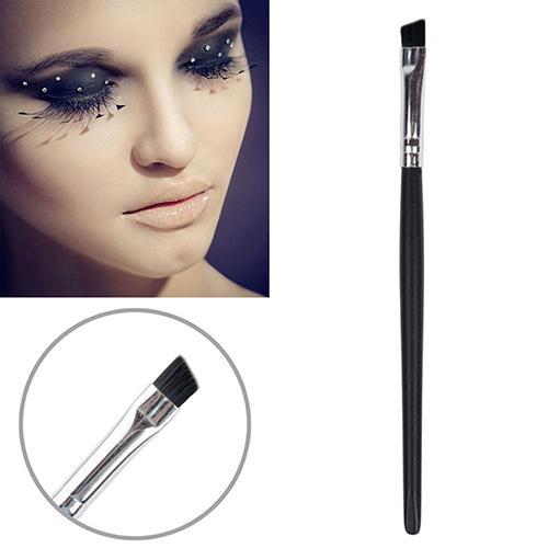 Pro Black Angled Firm Tip Eyebrow Eyeliner Lip Brush Makeup Cosmetic Tool Eyebrow Brush