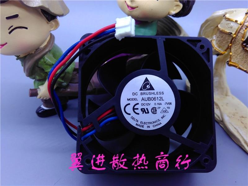 6025 12V 0.16A Silent Fan AUB0612L Three Lines 60x60x25mm