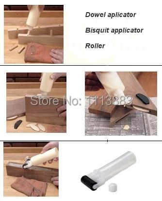 Купить с кэшбэком Woodworkers Bottle Glue Roller and Bisquit Applicator Set used for Woodworking