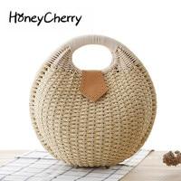 New Fashion Shell Handbags Personality Cute Rattan Straw Bag Weaving Leisure Bag Bags Handbags Women Famous Brands