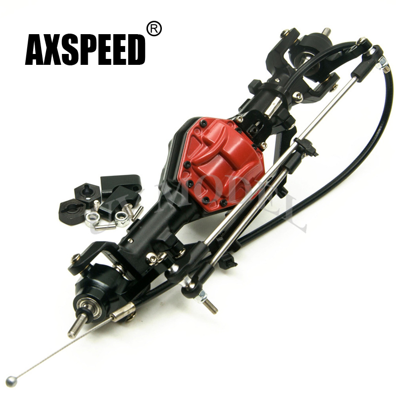 1:10 RC Car Parts Front Axle With Lock High Quality Alloy Front Axle Red For RC 1:10 Crawler AXIAL SCX10 CC01 F350 alloy front