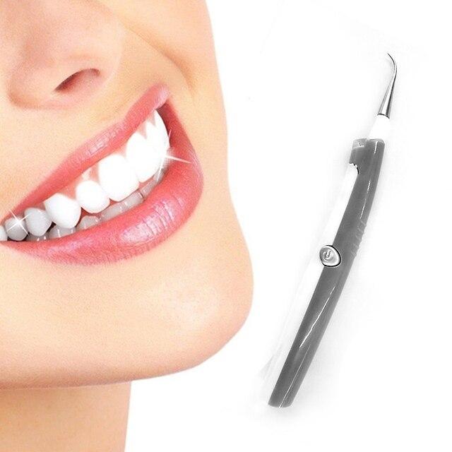 Suave Dental dientes ultrasónico Dental dientes con luz Led Removes tártaro y manchas dientes blanqueamiento