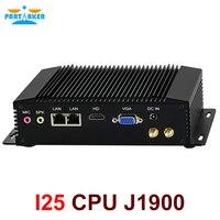 Dual LAN Mini PC Windows 7 Fanless Mini PC Intel Celeron J1900 RS485 COM USB WIFI industrial PC Desktop Computer